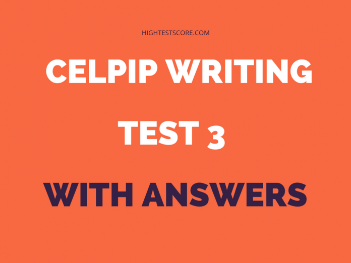 CELPIP writing test 3