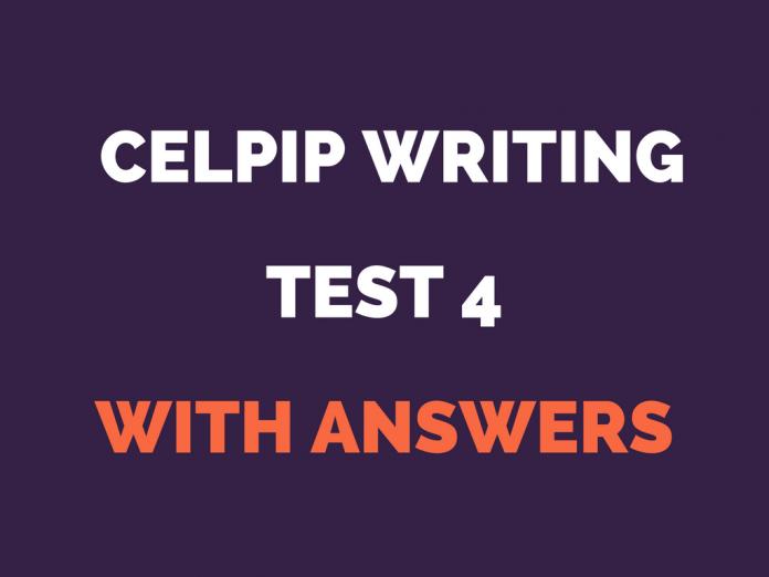 CELPIP writing test 4