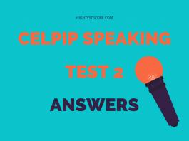 CELPIP speaking test 2 answers
