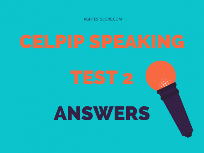 CELPIP speaking test 2 answers